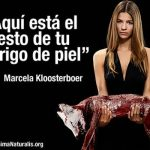 Marcela Kloosterboer dice ¡¡¡Fuera pieles!!!