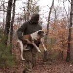 Hombre que vivía en el bosque solo acepta ayuda cuando sus 30 perros están a salvo (VIDEO).